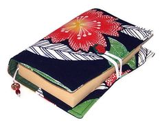 Book Cover Vintage Kimono Scarlet Blossom by WhimsyWooDesigns, £16.00