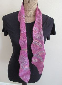 Tropical Colors Crocheted Scarf