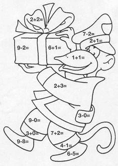 Un coloriage magique pour apprendre les additions et les soustractions en s'amusant. Un moyen ludique de faire des maths avec les enfants.