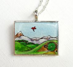 The Hobbit, Hand Painted Pendant