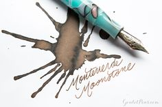This fountain pen ink is stunning! Try Monteverde Moonstone, a gorgeous light brown, ideal for journaling or professional writing. Pin for later!