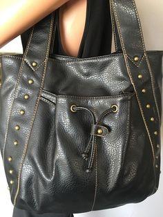 Relic Bag Hobo Black Antiqued Studs Designer Fashion Hip Chic Trendy   eBay
