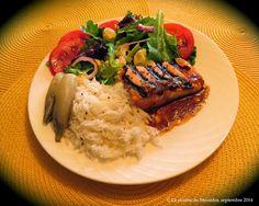 La cuisine de Messidor: Pavés de saumon bbq, sauce au cari express