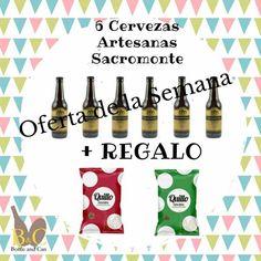 ¡¡ NUEVA OFERTA DE LA SEMANA !! La OFERTA comprende 6 Botellas de Cerveza ARTESANA 1598 SACROMONTE 33 cl. cada una + REGALO 1 Patatas Fritas QUILLO QUE ARTE, Bolsa Color Rojo 140 gr. + 1 Patatas Fritas QUILLO QUE ARTE, Bolsa Color Verde 140 gr. Válida hasta el Domingo 09/10/2016 o hasta Fin de Existencias. http://tienda.bottleandcan.com/es/ #oferta #regalo #cerveza #cervezaartesana #beer #craftbeer #tiendaonline #gourmet #bottleandcan #granada #andalucia #españa #spain