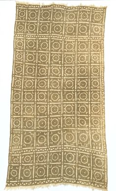 Boho Decor, Vintage African Mud Cloth Textile, Rare Taupe U0026 Ivory Color 61  Inches Long X 32 Inches Wide