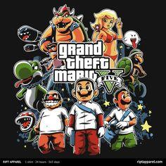 """""""Grand Theft Mario V"""" today at RIPT via Reddit user diablien"""