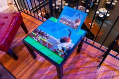 Lego tables featuring famous sculpture of Spoonbridge and Cherry