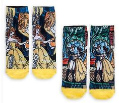 Beauty and the Beast Socks!  Beauty and the Beast Products you MUST HAVE | Clothes, Decor, Jewelry and MORE - Saving Toward A Better Life
