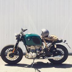 Finally complete! #bmw #r65 #custom #bim #motos #motorcycle #vintage #wheels #leather #helmet #biltwell #archival #bag #closet #style #ride