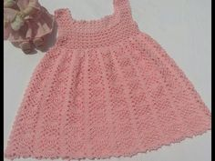 Very Easy Crochet Baby / Girl's Cardigan - Qoster Crochet Girls, Crochet Baby Clothes, Crochet For Kids, Crochet Toys, Knit Crochet, Crochet Bebe, Toddler Dress, Baby Dress, Baby Patterns
