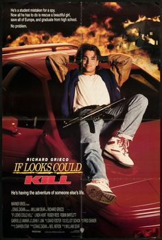 If Looks Could Kill (1991) starring Richard Grieco,Gabrielle Anwar, Roger Daltrey, Linda Hunt, and Roger Rees Movie Theater, Movie Tv, Roger Rees, Richard Grieco, Best Movie Posters, The Best Films, Good Movies, Movies And Tv Shows, High School