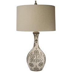 Natural Light Taupe Silhouette Vase Table Lamp