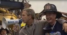 Watch the George W. Bush 9/11 bullhorn speech you'll never forget