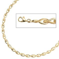 Gold Necklace, Chain, Bracelets, Jewelry, Necklaces, Yellow, Schmuck, Women's, Christmas