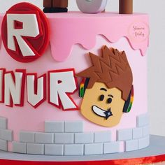 27 Best Roblox Cake Ideas for Boys  Girls (These Are Pretty Cool) Roblox Birthday Cake, Roblox Cake, 10 Birthday Cake, Bithday Cake, Birthday Parties, Geek Birthday, Cupcakes, Cupcake Cakes, 10th Birthday Cakes For Girls