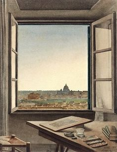 Constant Moyaux, View of Rome from the Artist's Room at the Villa Medici (1863)