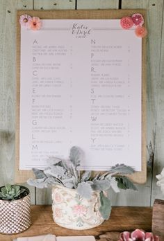 Day-Of Wedding Stationery Inspiration and Ideas: Seating Charts via Oh So Beautiful Paper (14)