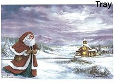 409 Santa Timeless Spirit Waterslide Ceramic Decals By The Sheet 11 X 7 14  1 pcs *** Click affiliate link Amazon.com on image to review more details.