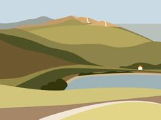Like the house giving scale & glimpse of road in this Ian Mitchell print.