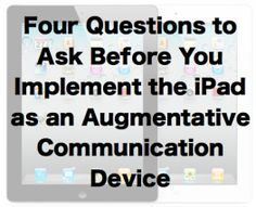iPads for Communication