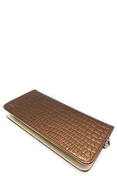 Bronze Textured Wallet  #DiscountedPalace #ZipAround