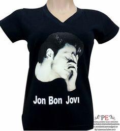 Camisetas e baby look com estampa do Bon Jovi, camisetas em 100% algodão ou 100% poliéster.  Peça já a sua, camisetas é um presente barato e todo mundo gosta de ganhar.  Várias cores e tamanhos.  ENTREGA RÁPIDA  Whats: 15 9 81600601 R$ 30,00
