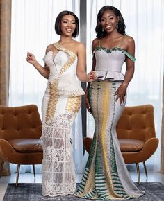 African Bridesmaid Dresses, African Dresses For Women, Bridal Dresses, Traditional Wedding Attire, Traditional Outfits, Traditional Weddings, Latest African Fashion Dresses, African Print Fashion, Kente Dress