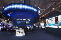 Interior del stand de NOVOMATIC. COOC Alternativa de Diseño.
