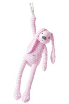 Baby Spieluhr Hase rosa waschbar