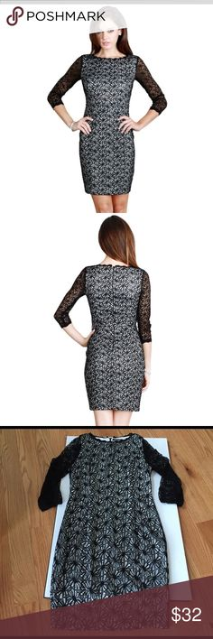 Deleting April 3rd Nikibiki floral lace dress Nikibiki size medium floral lace3/4 sleeve dress. Fully lined. Beautiful and perfect condition. Measurements are bust 30 waist 28 hips 30 length 34. 85% nylon 15% spandex. Dry clean nikibiki Dresses Midi