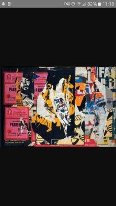 EX 26, RUE DU PONT -NEUF , 11 MARS 1975 lacérées marouflées sur toile Jacques Villeglé  addition  dechirer main  lacerer  coller  affiche qui devient une oeuvre recouvrir  couches mille feuille  strate 1975, Couches, Rue, Les Oeuvres, Mars, Times Square, Travel, Communication Design, Bridge