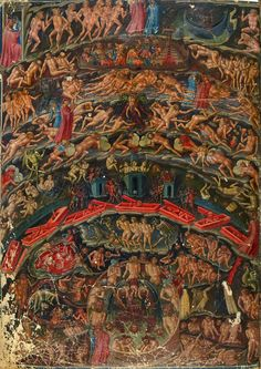 ASSertive DISCIPLINE Attributed to Bartolomeo di Fruosino and workshop - Illustration for Dante Alighieri´s Divine Comedy: Inferno. Dante Alighieri, Arte Horror, Horror Art, Catholic Art, Religious Art, Rennaissance Art, Occult Art, Heaven And Hell, Bnf