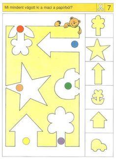 Piccolo: schaar kaart 7 Logic Games For Kids, Educational Games For Kids, Kids Learning, Montessori Activities, Preschool Activities, Kindergarten Math, Teaching Math, Nursing Printables, Visual Perception Activities