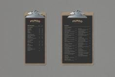Mundo Cafe & Bakery by Gisela Beer, via Behance menu design ,gold/white on black