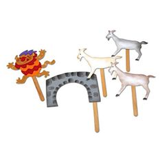 Billy Goat Gruff, Craft Stick Puppets