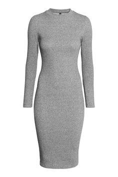 Vestido em jersey canelado | H&M