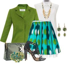 """Green Blazer"" by brendariley-1 on Polyvore"