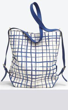 Carven : Bag Blue Print