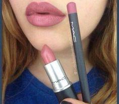 Soar lip liner & brave lipstick