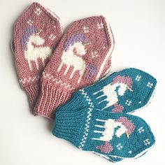 Ravelry: Be a Unicorn Mittens pattern by Tonje Haugli Boys Knitting Patterns Free, Knitting For Kids, Crochet For Kids, Free Knitting, Knitting Projects, Knit Crochet, Stitch Patterns, Mittens Pattern, Bebe