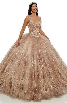 Mary's Quinceanera Dresses - Sweetheart Applique Ballgown - Mary's Quinceanera Dresses – Sweetheart Applique Ballgown – Couture Candy Source by - Gold Dama Dresses, Rose Gold Quinceanera Dresses, Quince Dresses, Quinceanera Party, Ball Gown Dresses, 15 Dresses, Formal Dresses, Sweet 16 Dresses Gold, Debut Dresses