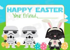Kids Star Wars Easter Day Cards Treat bag by TheLovelyMemories