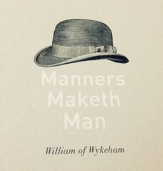 Essay writing on manners make a man