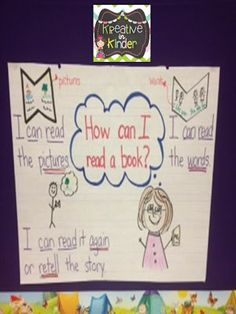 How to read a book! Anchor chart