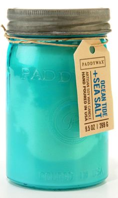 Paddywax Ocean Tide & Sea Salt Jar Candle - Trouva