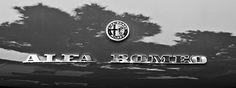 Alfa Romeo photographs, black and white photographs of Alfa Romeos, Alfa Romeo pictures