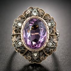 Not an engagement ring but i want this!!!! Pale Amethyst Two-Tone Ring