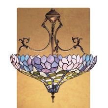 View the Meyda Tiffany 30450 Stained Glass / Tiffany Bowl Pendant from the Wisteria Collection at LightingDirect.com.