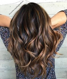 Coffee Brown Hair And Copper Ribbons