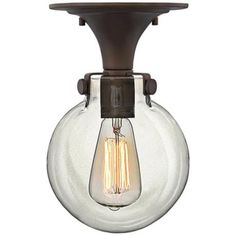 "Hinkley Congress 10 3/4"" Wide Bronze Ceiling Light -"